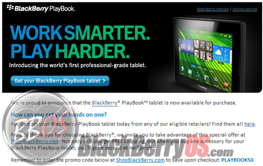 Blackberry playbook coupon canada : Cpap daily deals