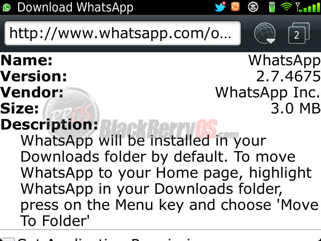 Whatsapp plus blackberry 9900 download
