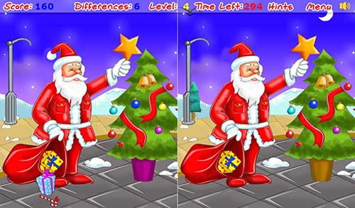 Christmas Spot The Difference | New Calendar Template Site