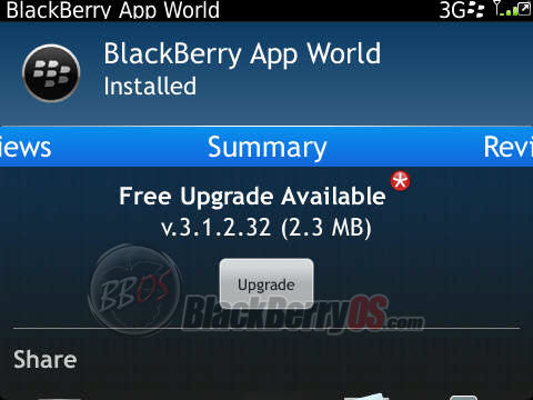 Discuss BlackBerry App World new update v3 1 2 32